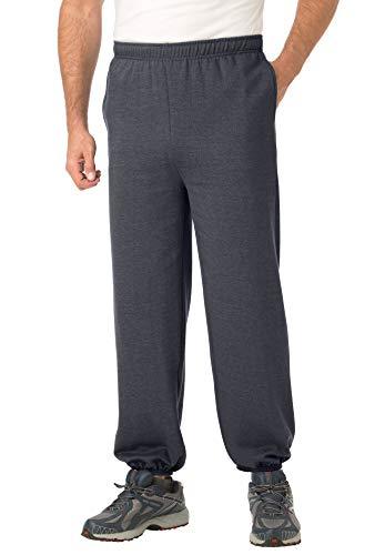 Kingsize pantalón Deportivo para Hombre de Forro Polar Big & Tall con puño elástico