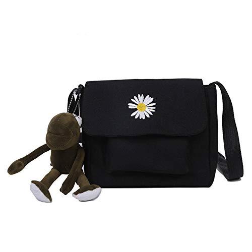 N-B Bolso de lona natural, bolso de mujer, bolsa de teléfono móvil, bolsa de ocio para niñas, estudiantes, compras, libros, playa, se puede reutilizar.