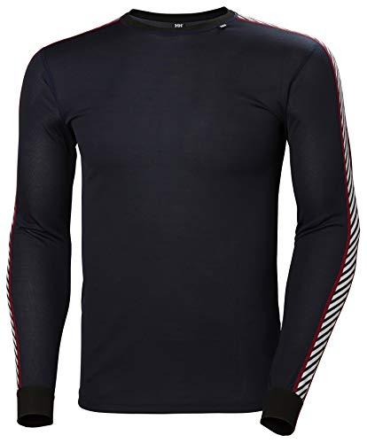 Helly Hansen LIFA Dry Stripe Crew Thermal Baselayer Camiseta Deportiva Manga Larga, Hombre, Navy, M