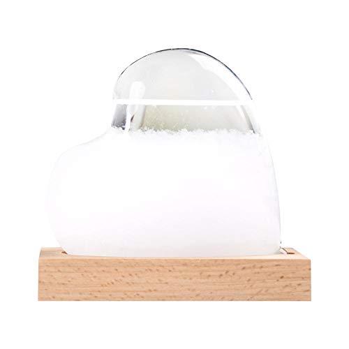 Funihut Storm Glass Barometro, Vetro Tempesta, stazioni Meteo, Goccia d\'Acqua, preditore, previsioni Creative, Stile Nordico, Vetro Meteo, Decorazione per la casa e Regali creativi, Amour Blanc