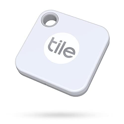 Tile Mate (2020) Bluetooth Trova Oggetti, 1 Pezzo, Bianco, Portata Rilevamento 60m, Batteria Sostituibile 1 Anno, Compatibile con Alexa e Google Home, iOS e Android, Trova Chiavi, Telecomandi e Altro