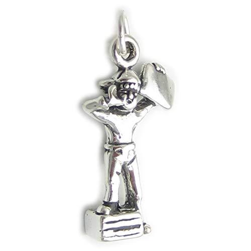 Paperboy - 2012 sterling Silber Charme, 925 x 1, Zeitung und Papier Boy SSLP4525 charms