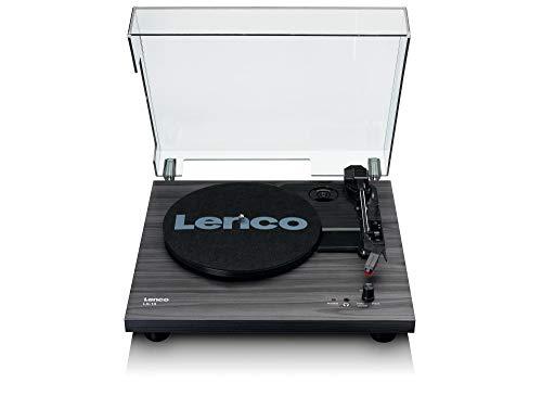 Lenco Plattenspieler LS-10 - Plattenspieler mit integrierten Lautsprechern - Schwarz