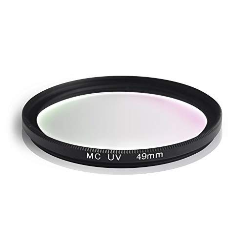 Ares Foto® MC UV Filter, Slim Schutzfilter mit Mehrschichtvergütung für Canon Sony Nikon Leica Fujifilm Panasonic Pentax Sigma Tamron Pentax (49mm)