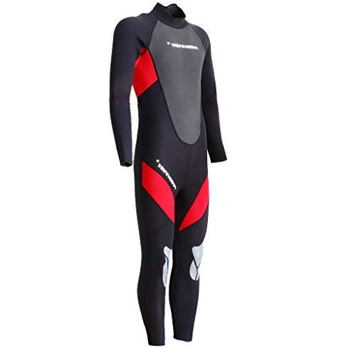 Unbekannt Baoblaze 3mm Herren Neoprenanzug lang Tauchanzug Surfanzug Einteiler Schwimmanzug Wetsuit zum Surfen Wakeboard Wasserski Tauchen - Rot XXL