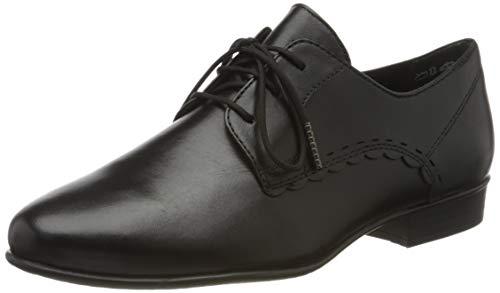 Tamaris Damen 1-1-23218-24 Derbys, Schwarz (Black Leather 003), 40 EU