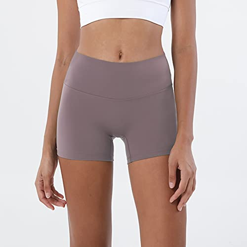 HUSJIE Pantalones Deportivos Cortos Leggings Mujer Push Up Mallas Yoga Alta Cintura Elásticos Leggings para Fitness Yoga Correr Secado Rápido,Púrpura,L