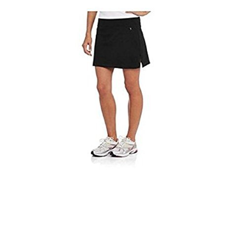 Danskin Now Women's Basic Skort for Tennis, Golf or Active (Large, Black)