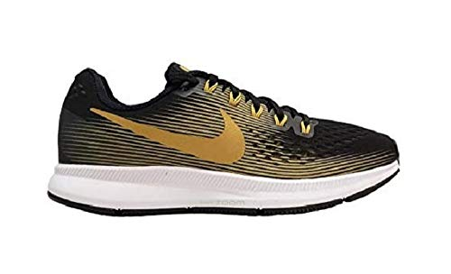 Nike WMNS Air Zoom Pegasus 34 880560-009 Black/Metallic Gold Women's Running Shoes (6)