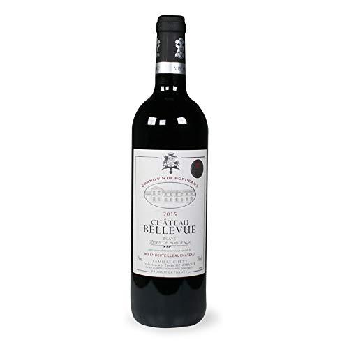 3 X Chateau BELLEVUE 2015 Blaye Cotes de Bordeaux Vino Rosso 75 cl