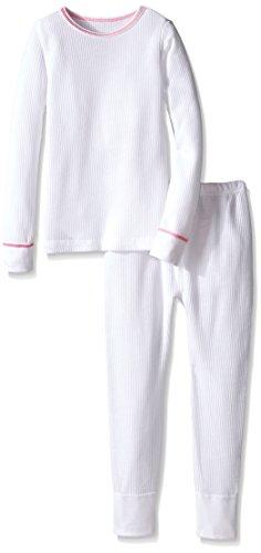 Fruit of the Loom Big Girls Waffle Thermal Underwear Set, Light Grey Heather, 14/16