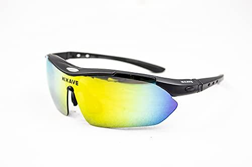 Óculos Ciclismo Kave Flow 3 Lentes Preto Lente Grau