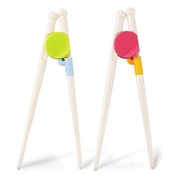 Kidsfantasy Kids Chopsticks 2 Pairs Kids Training Chopsticks Toddler Chopsticks for Baby Children