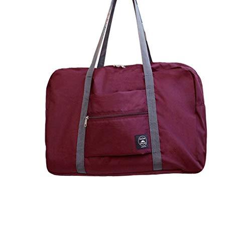 Kakiyi Carry Travel On Duffle Bag grande plegable almacenamiento de ropa Weekender Shouder bolsa de viaje Vino