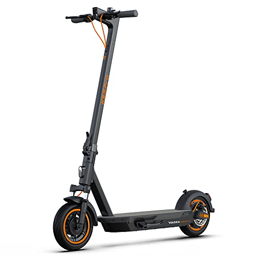"""Yadea Electric Kick Scooter KS5pro, 37 Miles Range, Max Speed 21.8 MPH, 10"""" Care-Free Solid Tires, Front Suspension, One-Step Foldable Commuter Electric Scooter for Adults, Black"""