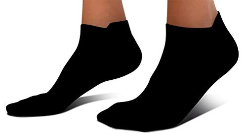 SB SOX UltraLite Compression Running Socks for Men & Women (2 Pairs) - Perfect Option to Our Compression Socks - Best No-Show Socks for Running, Athletic, Everyday Use (Solid - Black, Large)