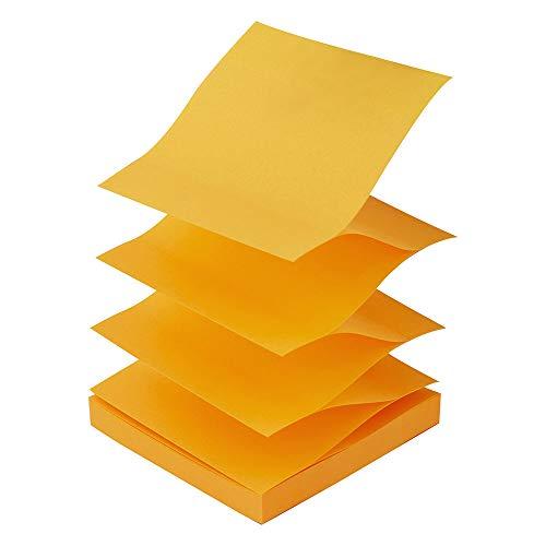 D.RECT Haftnotizen Zig-Zag Z-Notes 75x75mm 100 Blatt  Orange