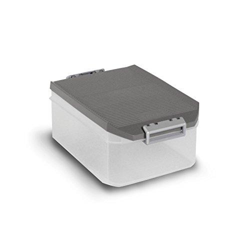 TATAY 1150222 Caja Multiusos, 4,5 l, Gris, 19.20x29.70x12.40 cm