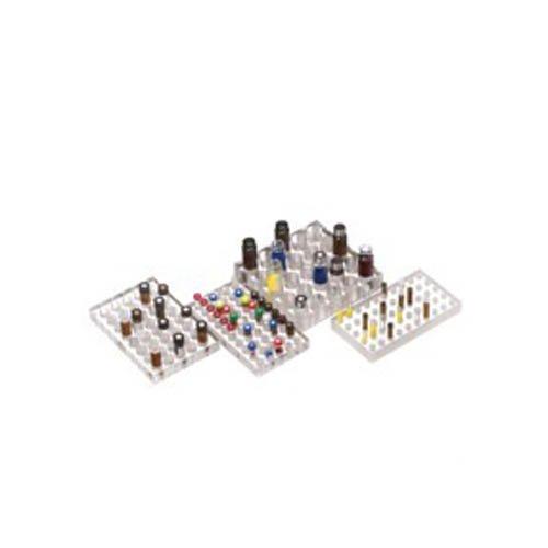 NeoLab 7-0787 flessenrek voor 25 flesjes, diameter 24 mm