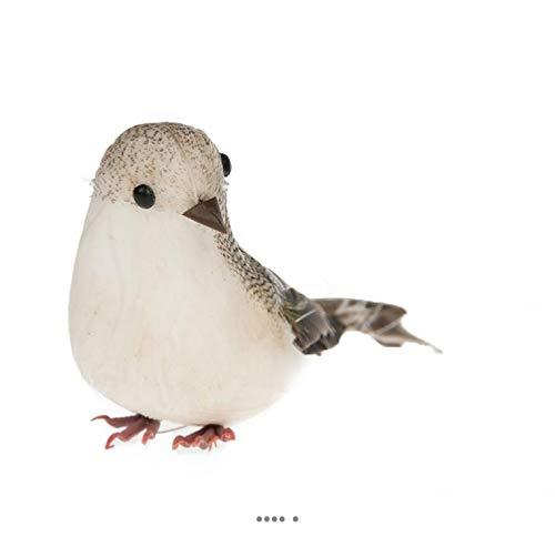 Artificielles.com - Oiseau Pinson artificiel Marron L 13 cm H 5 cm sur tiges metal - couleur: Ambre