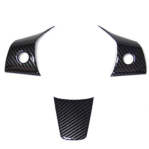 Car Interior Accessories Carbon Fiber Style Interior Exterior Cover Trims Accessories for Tesla Model 3 2017 2018 2019 (Steering Wheel)