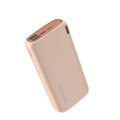 Power Bank 20000mAh Carga portátil Poverbank Teléfono móvil Cargador de batería Externo para Xiaomi, iPhone, Samsung Galaxy, teléfono Android,Rosado