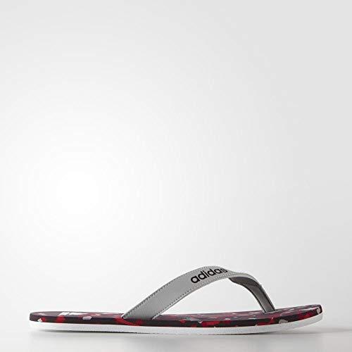 adidas Herren Eezay Marbled M Zehentrenner, Gris/Blanco/Rojo (Onicla/Blanco/Rojmin), 43 1/3 EU