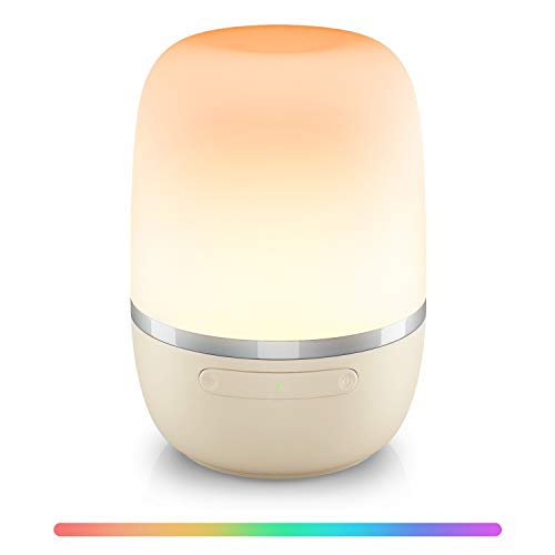 [Upgraded] Smart LED Night Light, Meross Alexa Lamp Compatible with Google and SmartThings, Voice Control Remote Dimmable Smart Lamps for Bedroom, RGB Multi-Color Kids Night Lights