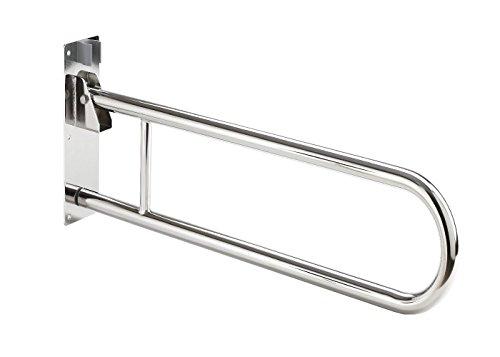 Barra abatible acero inoxidable baño 85 cm ⭐