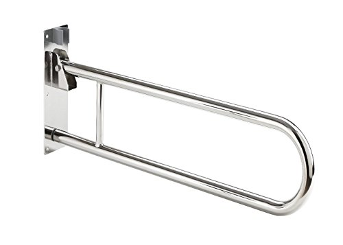 Barra abatible acero inoxidable baño 85 cm 🔥