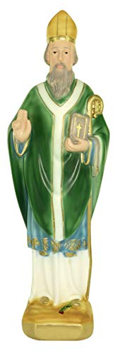 Ferrari & Arrighetti Estatua San Patricio en Yeso Pintada a Mano - 30 cm