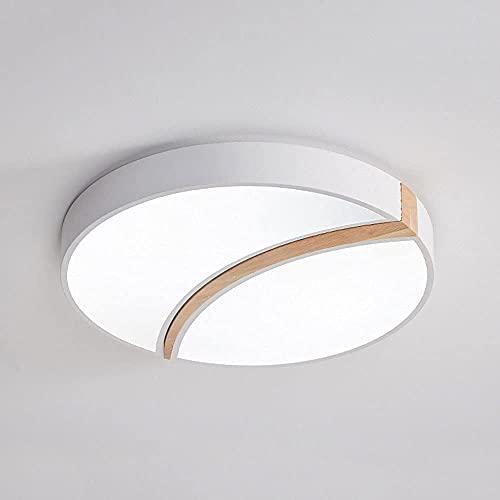 QTQHOME Lámpara de Techo LED Redonda Diseño Creativo Lámpara de Techo con luz de Tres Tonos Instalación empotrada Accesorios de iluminación de Techo para Dormitorio,balcón,Sala de Estar y Cocina
