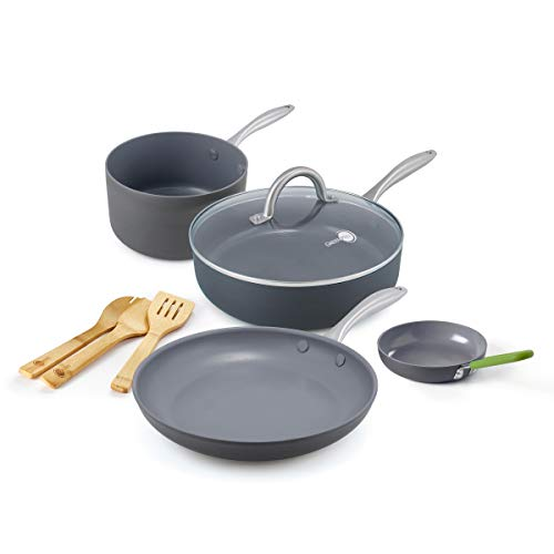 GreenPan Lima Healthy Ceramic Nonstick, 8 Piece,...