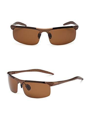 thematys Sonnenbrille für Herren & Damen polarisiert - UV400 Sportsonnenbrille perfekt geeignet für Fahrrad, Motorrad, Angeln, Joggen & Sport allgemein (Style 3)