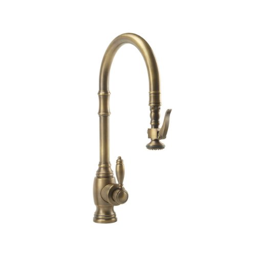 Waterstone 5600-PN Annapolis Kitchen Faucet Single Handle with Pull Out Spray, Polished Nickel