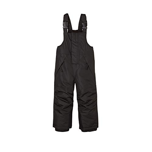 BiyAN9m Baby/Toddler Chest Insulated Snow Bib Overalls, Ski Pant with Suspenders Snowsuit(Black,3-4T)