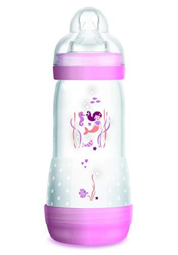 MAM Mam Easy Start biberón Anticólico con Tetine Debit 3para niña, Color Rosa, 320ml 0+ meses