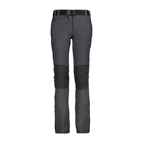 CMP – F.LLI Campagnolo Mädchen Lange Outdoor-Hose mit Verstärkung an den Knien Bottons, Grey-Geraneo, 164