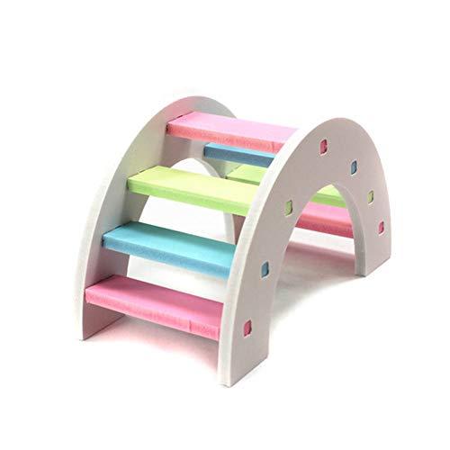 tianxiangjjeu Hamster Ladder Speelgoed Klimmen Houten Kleurrijke Trappen Brug Speelgoed spelen, multi