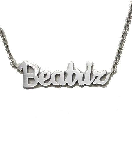 Jey Collar Nombre Mujer INOX (Plata, Beatriz)