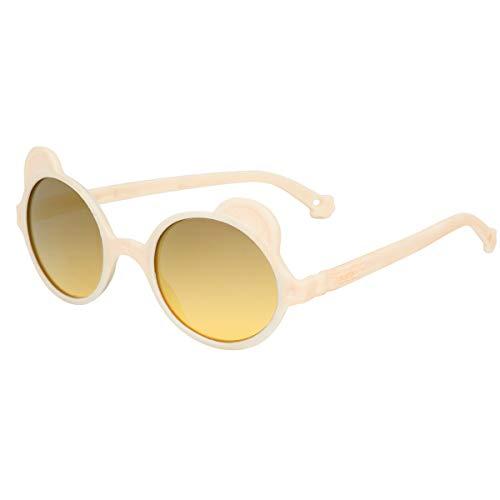 KI ET LA Sonnenbrille für Babys und Kinder, Teddybär: 1 bis 4 Jahre Gr. 2-4 Jahre, cremefarben