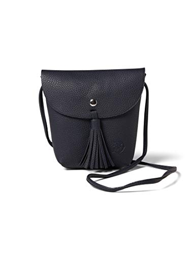 TOM TAILOR DENIM Damen Taschen & Geldbörsen Handtasche Ida dark blue cognac,OneSize