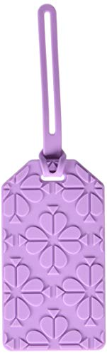 Kate Spade New York Purple Silicone Luggage Tag with Strap, Spade Flower (purple)