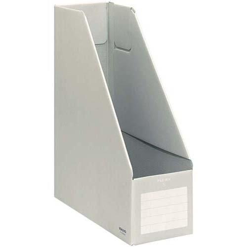KOKUYO ファイルボックス Sタイプ (ダンボールタイプ) A4判 タテ型 背幅102mm グレー 5冊 フ-E450M