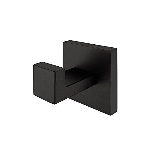 Aothpher 304 Edelstahl Schwarz Handtuchhaken, Modern Chrom Handtuch Robe Luxus Quadrat Badezimmer Zubehör … …