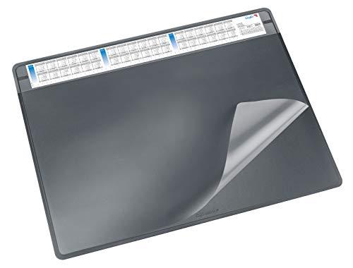 Läufer 47656 Schreibunterlage Durella Soft mit Kalender, 65 x 50 cm, schwarz