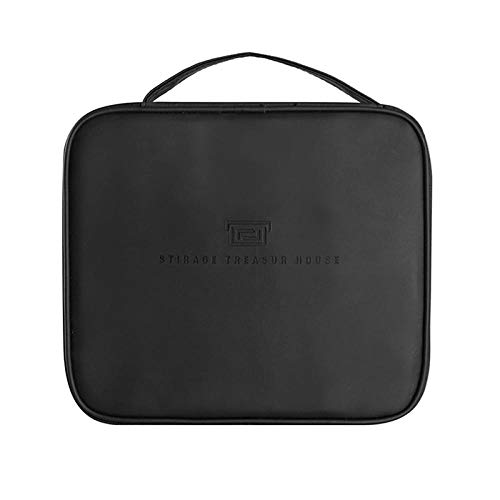 Cosmetic Bag Women Travel for Makeup Toiletries Organizer Waterproof Female Storage Cases Pouch Beauty Case-Black_24_x_21_x7.5_cm