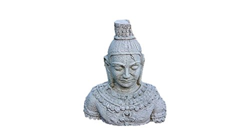 Steinfigur Buddha, Büste aus Steinguss