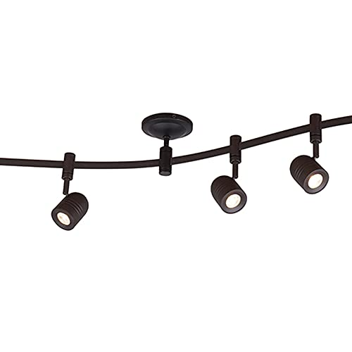 Catalina Lighting 21903-000 Transitional 6 Integrated LED Flex Track Ceiling Light, Bulbs Included, 96