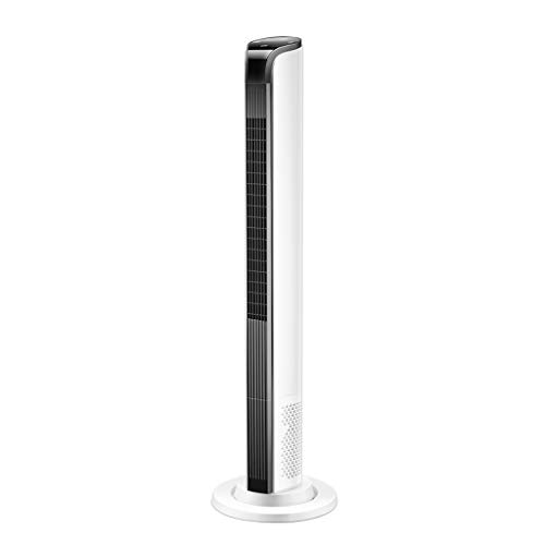 Oscillating H037ZJ Torenventilator met afstandsbediening, kolomventilator, luchtkoeler, zeer stil, 3 snelheden, 3 modi, 60 W, 12H timer, 107 cm, wit